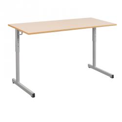 Table scolaire réglable biplace 130x50 cm