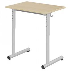 Table scolaire réglable 70x50 cm - pieds ronds