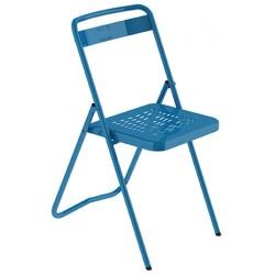Chaise pliante en métal Touraine