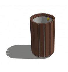 Corbeille en Plastique Recyclé Rando Simple