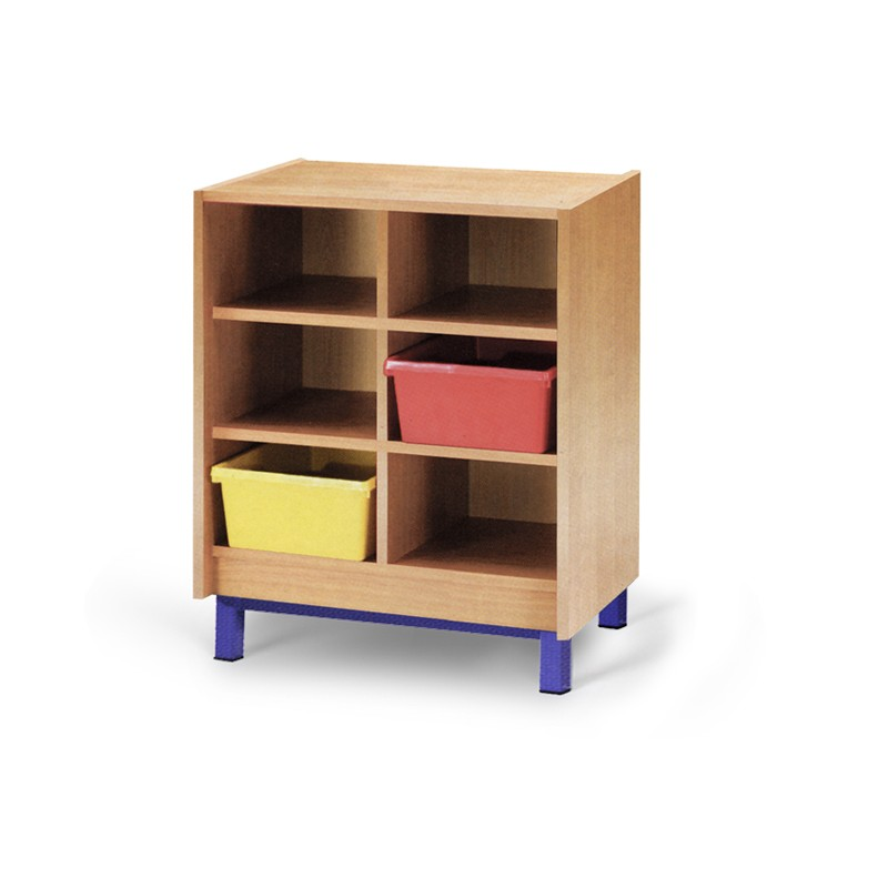 meuble casier 6 cases mobilier maternelle mobilier scolaire. Black Bedroom Furniture Sets. Home Design Ideas