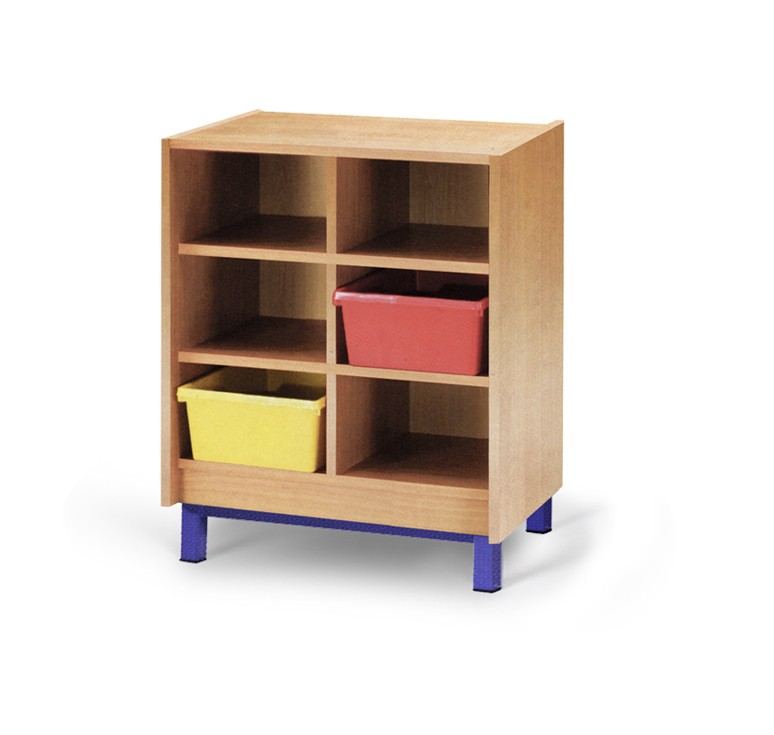 Meuble casier 6 cases mobilier maternelle mobilier for Meuble casier
