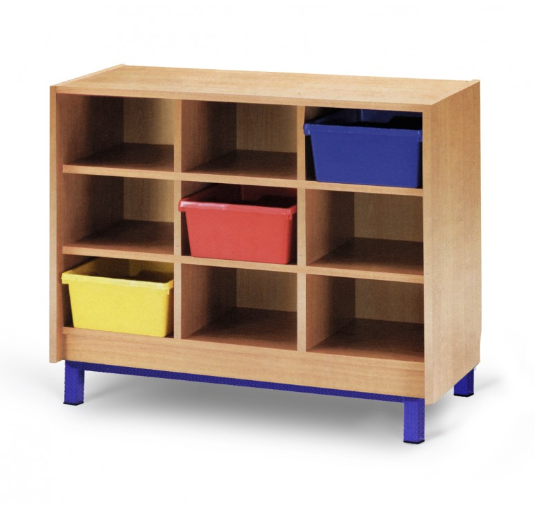 Meuble casier 9 cases mobilier maternelle mobilier for Meuble cube 6 cases