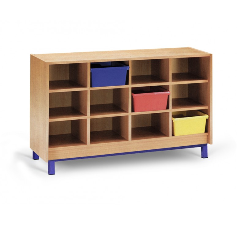 Meuble casier 12 cases mobilier maternelle mobilier - Meuble 9 cases ...