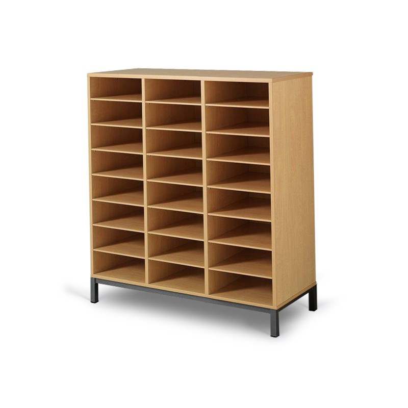 Meuble casier 24 cases mobilier maternelle mobilier scolaire for Meuble 16 cases