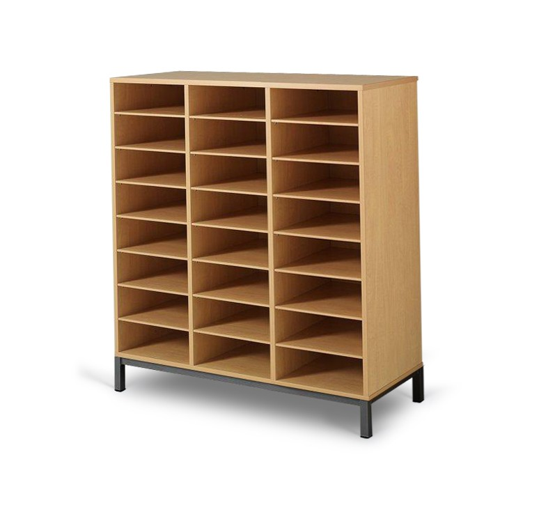Meuble casier 24 cases mobilier maternelle mobilier for Casiers de rangement bureau