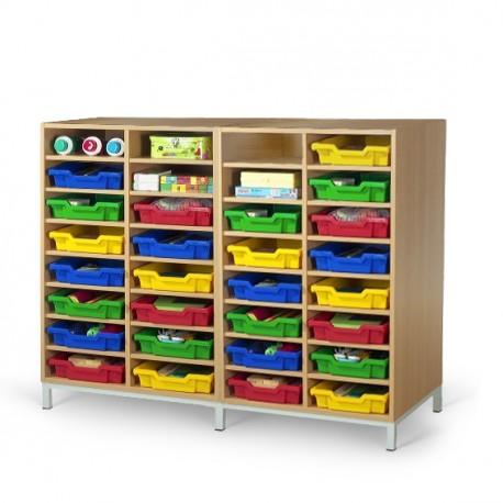 meuble casier 32 cases mobilier maternelle mobilier scolaire netcollectivit s. Black Bedroom Furniture Sets. Home Design Ideas