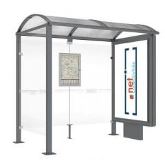 Abri bus métallique