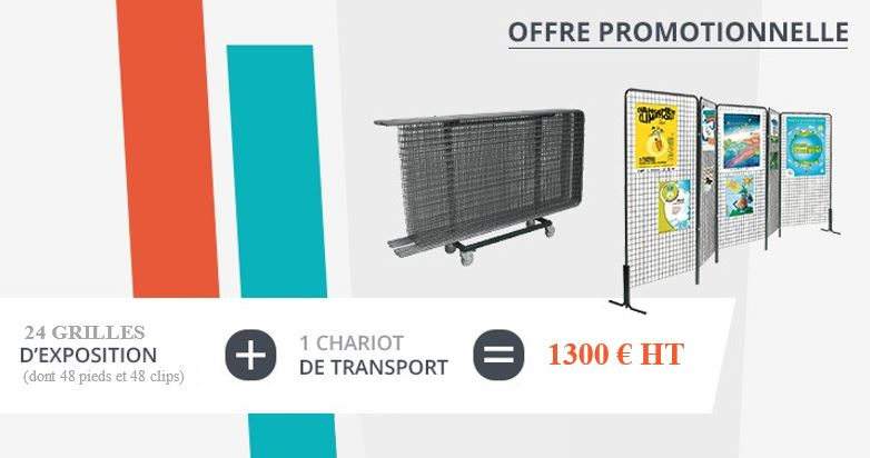 Promo 24 grilles + 1 chariot - Net Collectivites
