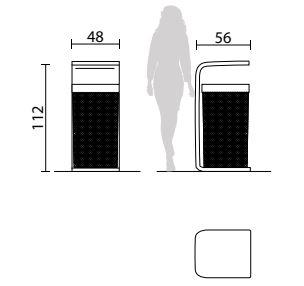 poubelle ext rieure b ton air corbeille urbaine design. Black Bedroom Furniture Sets. Home Design Ideas