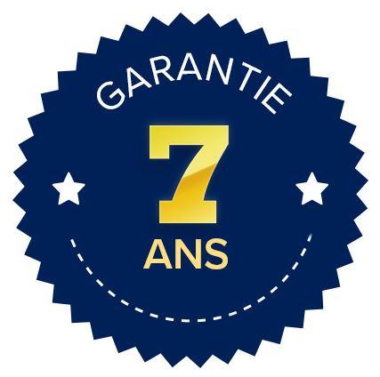 Logo 7 ans de garantie pour les Bancs pliants en polypro - Net Collectivités