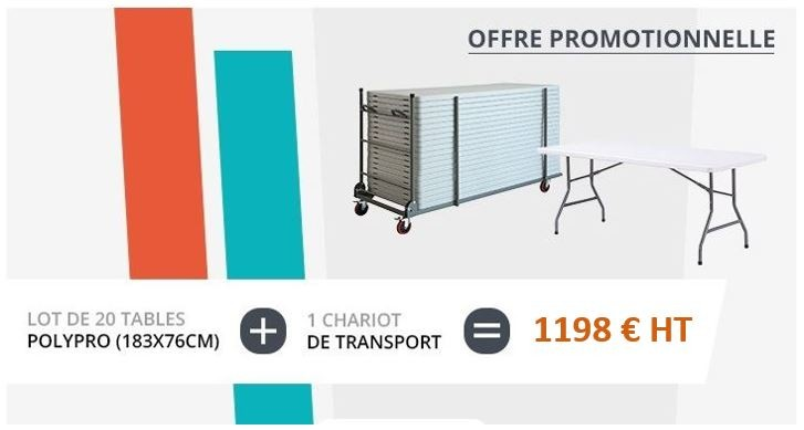 Lot de tables polypro