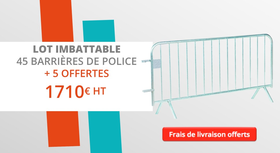 Lot promotionnel de 45 barrières de police + 5 offertes