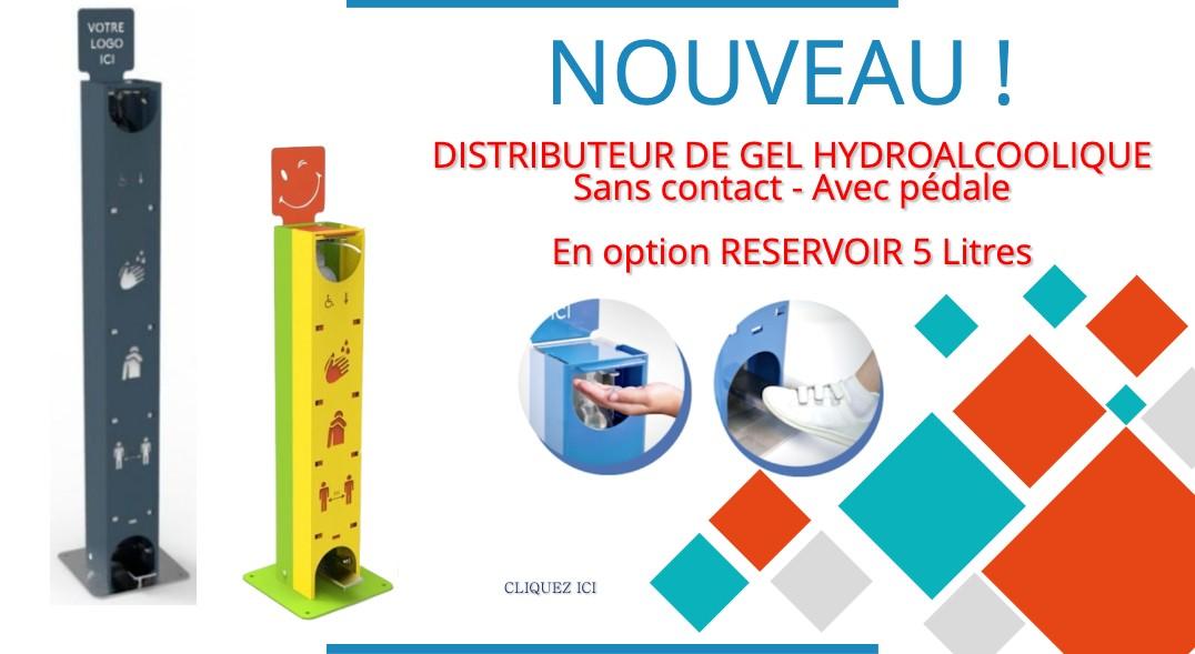 Masques de protection chirurgicaux, distributeur gel hydroalcoolique - Net Collectivités