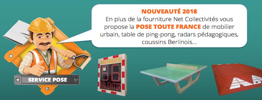 Pose de mobilier urbain partout en France